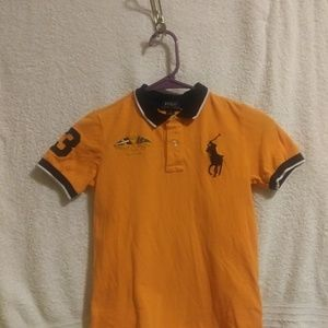 Polo Ralph Lauren Orange and Black Shirt
